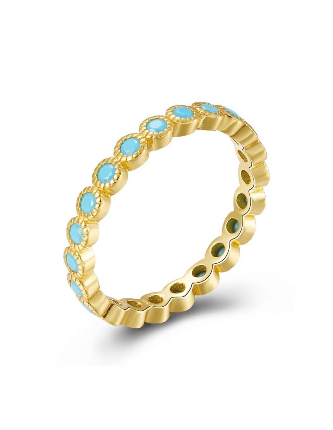 ring met blauwe stenen