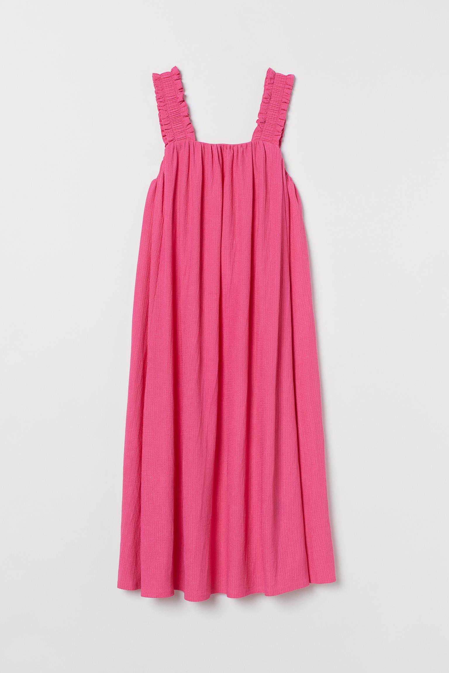 roze jurk met strik H&M